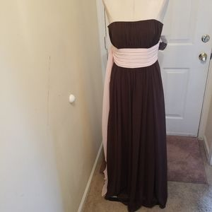 Brown and pink  formal dress